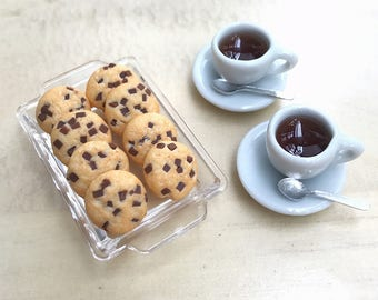Miniature Cookies and coffee set,Miniature Sweet,Miniature Cookies ,Dollhouse Cookie,Dollhouse Coffee Set,Miniature,DIY