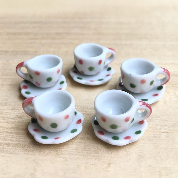 2PCS Miniature Dollhouse Coffee Cup Mini World Dolls Accessories