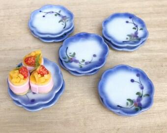 5 Pcs.Miniature Ceramic Plate Set,Miniature Tray,Dollhouse Plate,Dollhouse food plate,Miniature food plate,Mini ceramic plate,wholesale
