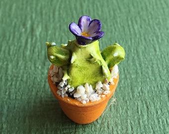 Miniature Cactus,Miniature Flower,Dollhouse Cactus,Miniature Flower Vase,Dollhouse Flower,dollhouse flower pot,Flower Cactus