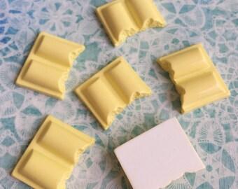3pcs.19x24mm.Miniature Cabochon White Chocolate ,Cabochons,Miniature Sweet,Miniature Cabochon,DIY,Mobile case