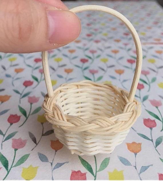 10 pcs Miniature Wicker Baskets Flower Crafts Dollhouse Christmas Easter