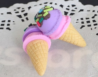 1pcs.15x31mm.Miniature Cabochon Icecream,Miniature Icecream,Cabochon,Polymer Clay,Miniature Sweet,Mobile Accessories,Icecream
