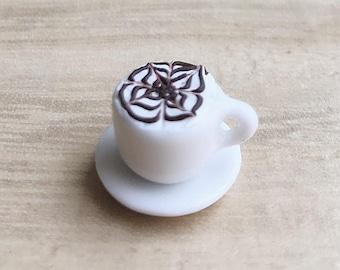 1or2 sets Miniature Coffee Cup,Miniature Coffee,Miniature Capuchino,Dollhouse Sweet,Dollhouse Coffee set,Miniature food