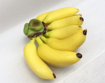 Miniature Banana,Miniature Fruit,Miniature Sweet,Miniature Jewelry,Doll and Miniature,handmade Miniature,Dollhouse Banana