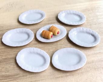 Miniature Plate,Ceramic Plate Miniature,Miniature food Plate,Dollhouse Plate,Small Plate,Dollhouse tray,Miniature tray,DIY