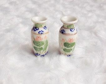 Sale!Miniature Vase,Miniature Ceramic Vase,Dolls House decoration,Dolls and miniature,Small vase,Miniature flower vase,miniature accessories