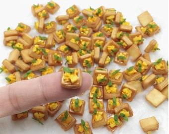 Miniature Mango Bread,Miniature Bakery,Miniature Sweet,Miniature food,Miniature Jewelry,Dolls house,Dolls and Miniature,Miniatures cakes,DIY