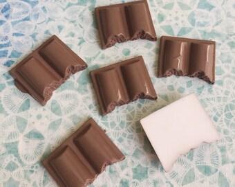 3pcs.19x24mm.Miniature Cabochon Chocolate ,Cabochons,Miniature Sweet,Miniature Cabochon,DIY,Mobile case