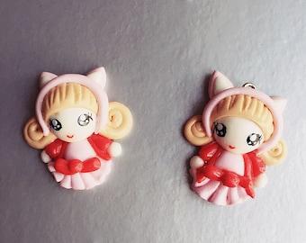 Miniature Doll,Miniature Cabochon,Handmade Polymer Doll,Dolls Accessories,Doll house,Miniature Jewelry,Cabochon Doll,DIY,Polymer Doll