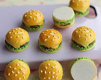 12x16mm.Miniature Cabochon Hamburger,Miniature Cabochon Burger ,Cabochons,Resin,Miniature Sweet,Miniature Cabochon,DIY,Mobile