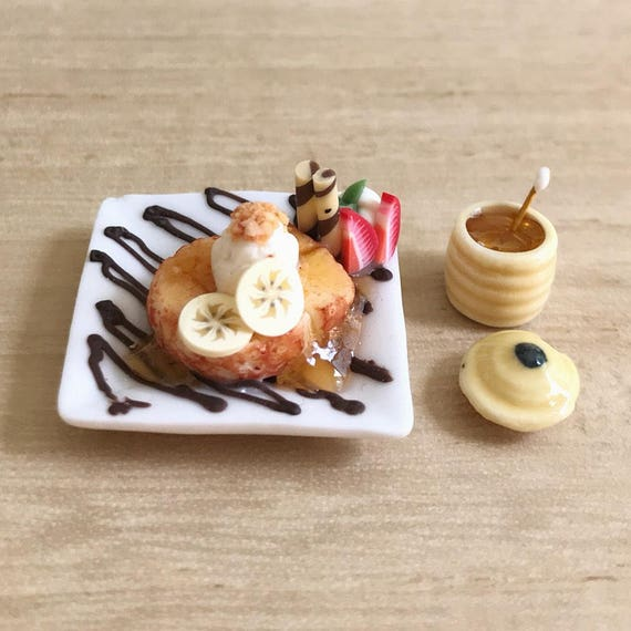 Dollhouse Miniatures Honey Toast Chocolate Ice Cream Food Sweet Decorate