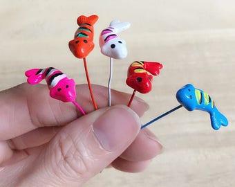 5/10 Miniature Goldfish for decorate Fairy Garden,Fairy Garden Decoration,Goldfish,Clay Goldfish,Miniature Fish