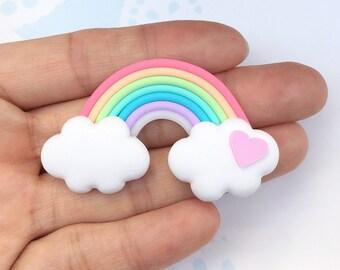 32x55mm.Miniature Cabochon Rainbow,Miniature Cabochon,Miniature Sweet,Mobile Accessories,Miniature DIY,Miniature Sunrise