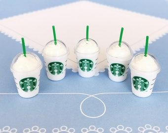 Ice Starbuck Coffee Miniature, coffee cup Starbuck Miniature,Miniature for Doll's House collection.