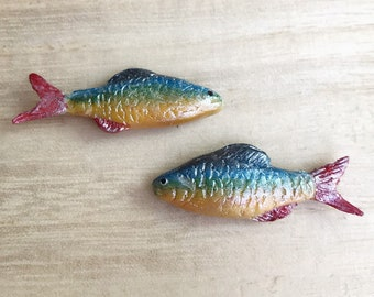 Miniature Fish,Miniature food,Miniature seafood,Dollhouse Fish,Small fish,DIY Miniature