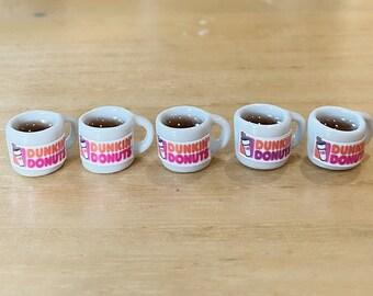 Miniature Coffee Mug,Miniature Coffee Cup,Coffee Mug Ceramic, Miniature Food,Dollhouse Miniature, Miniature Jewlery,Dollhouse