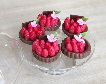 Miniature Chocolate Strawberry Cake,Miniature Sweet,Dollhouse cakes,Miniature bakery,Miniature Cakes,Dollhouse Bakery,Fruit Cakes