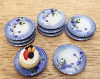 5pcs.Miniature Plate,Miniature Tray,Miniature Ceramic Plate,Miniature Ceramic Tray Miniature food,Doll's House plate,Dollhouse