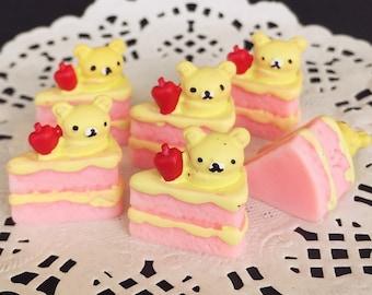 13x19mm.Miniature Cabochon Cakes,Miniature Cookies,Miniature Cake Cabochon,Resin,Miniature Sweet,Miniature Strawberry