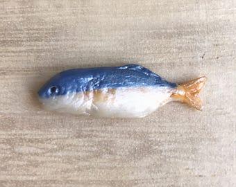 Miniature Fish,Dollhouse Fish,Miniature food,Miniature DIY,Miniature Animals,Miniature food,Dollhouse food,seafood,DIY,Fish