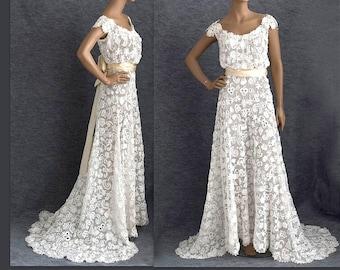 Irish Wedding Dress.Irish Wedding Dress Etsy