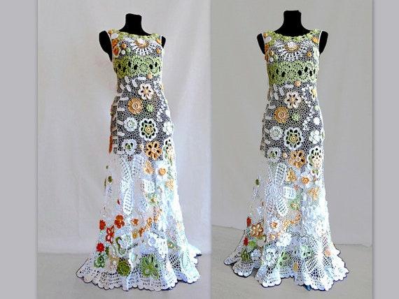 Formale Kleid Irland häkeln Brautkleid Boho-Hochzeit | Etsy
