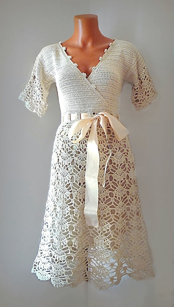 Style 50s Wedding Dress Simple Bridal Gown With Short Etsy