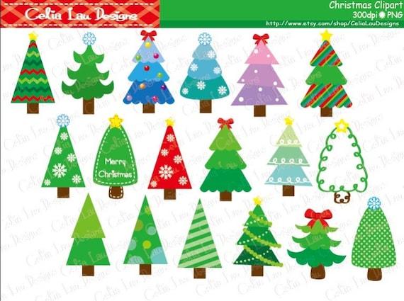 Weihnachten Clipart Weihnachtsbaum Clipart Digitale Etsy