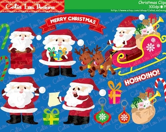 SANTA CLAUS Digital Clipart , Santa clipart, Christmas clipart