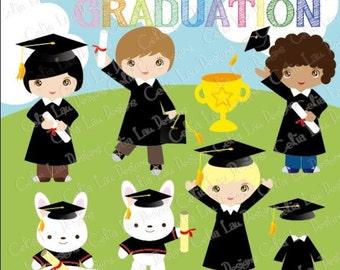 Graduation Party ,Preschool, Kindergarten graduation Clip art , Graduate, Grad clip art (CG125)