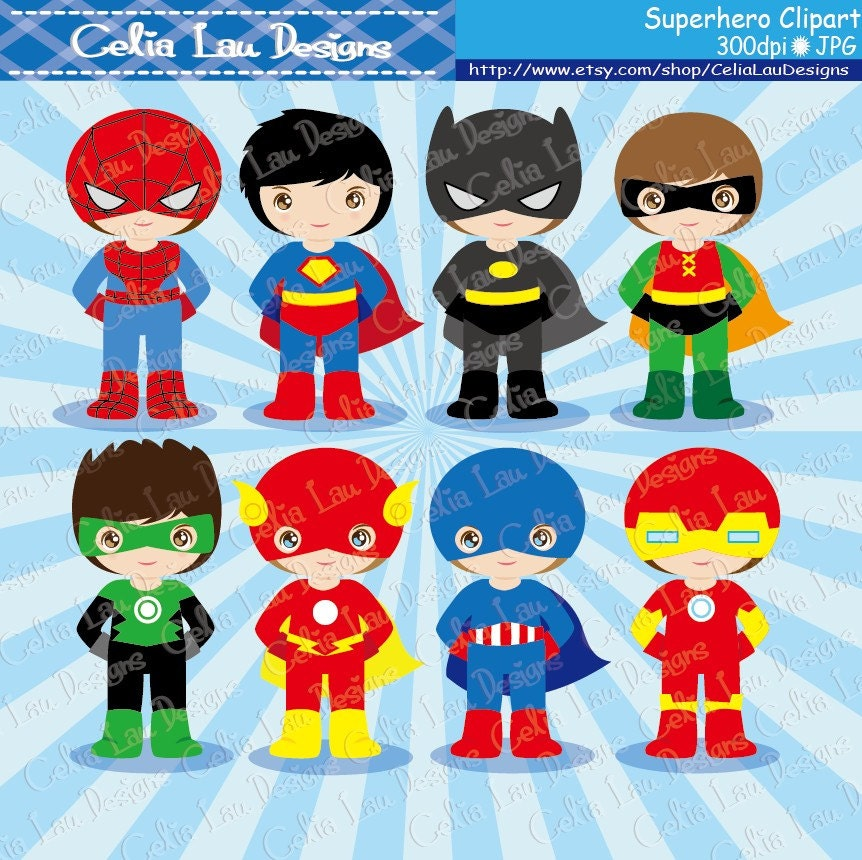 Superhero Art For Little Boys: Superhero Clipart Superheroes Little Boys Superhero
