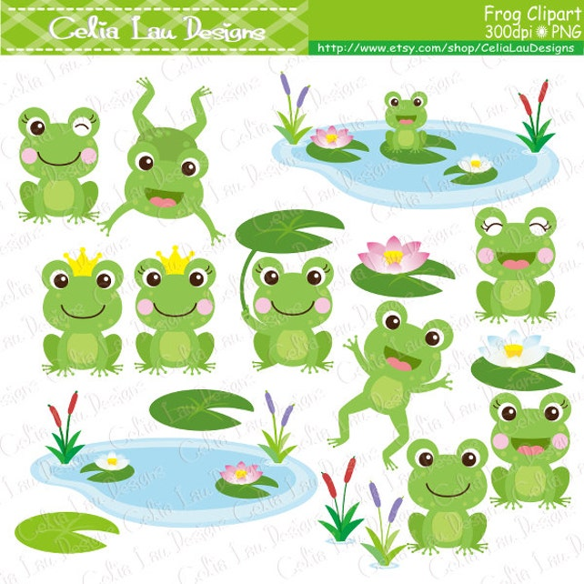frog clipart frogs clip art lilypads frogs cat tail cute etsy rh etsy com free clipart of frogs clipart pictures of frogs