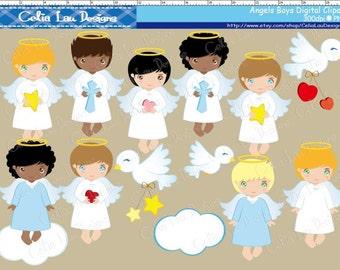 Angel Boy Digital Clipart, Angel Clipart, Angel Clip Art, Angel Boy Clipart, Angel Boy Clip Art, Baptism Clipart, Angel Baptism Boy Clipart