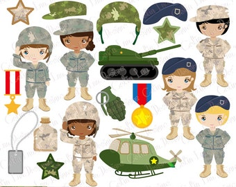 Army Clip Art , Army party kids digital clipart, Camouflage digital paper background (CG196)