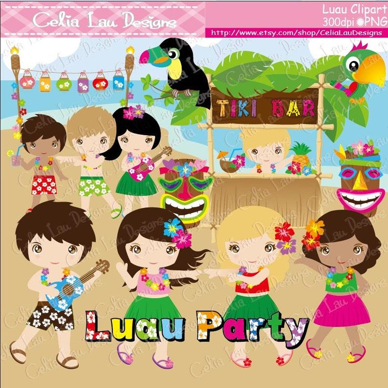1a41feeaa Aloha Clipart Luau Clipart Luau Party Luau clip art Hawaii   Etsy
