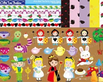 Alice Digital Clipart and Paper Set(CG007)/ Digital Clip art / INSTANT DOWNLOAD