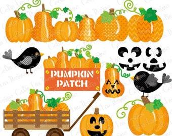 Pumpkin Patch, Pumpkin Party clip art, Pumpkin clipart,Fall clipart,Harvest clipart,Farm clipart,Halloween clipart(CG073)/ INSTANT DOWNLOAD