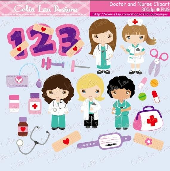 foto de Cute Girls Nurse and Doctor clipart Career clipart Doctor