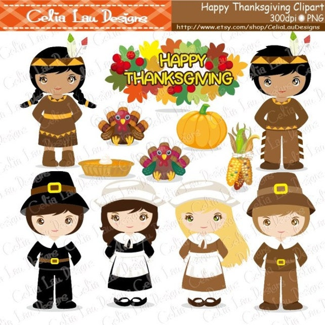 thanksgiving clipart turkey clipart pilgrim clipart indian etsy rh etsy com pilgrim and indian clipart free thanksgiving indian clipart