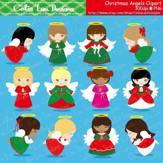 Christmas Angels Images Clip Art.Christmas Angels Digital Clipart Angel Clipart Angel Clip Art Christmas Clipart Holiday Clip Art