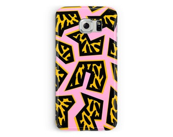 Galaxy S7 case, Galaxy S8 case, Memphis Design, Samsung S9 phone case, African pattern Case, Samsung S6, Case for Galaxy S9, S8 phone case