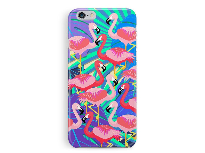 size 40 51fff ba81c Flamingo iPhone 6 Plus Case, Flamingo Phone Case, iPhone 6 Case, 6S Case,  Tropical iPhone Case, Parrot print, Tropical birds, Gift for girls