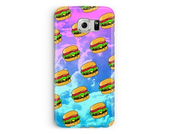 Galaxy S8 case, S8 phone case, Samsung Galaxy S7, Cover for S9, Burger Phone Case, Food Samsung Case, S6 case, Protective S7 Edge Case