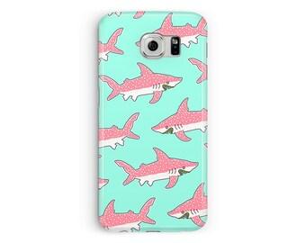Samsung S9 Case, Cute Galaxy S8 Case, Shark Phone Case, Fish S7 phone case, Jaws Samsung S6 S7 Edge, Nature Samsung Case, animal Lover, S5