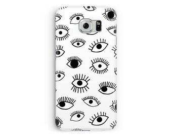 S7 Edge Samsung Galaxy case Samsung S7 Case Samsung S8 case Galaxy s9 case Eye Phone case Eyes Phone case Eye pattern minimal samsung case