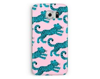 Tiger Samsung Case Cat Samsung Galaxy Case Galaxy S8 Cat Case Pink Samsung S7 Samsung Galaxy S6 Case Tiger Case, Animal lover kawaii samsung