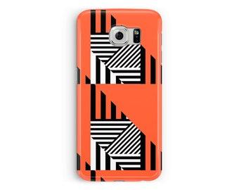 Orange Galaxy S7 case, Samsung S8 Galaxy S8 case, Pattern phone case, Samsung S9 phone case, Samsung S6, Case for Galaxy S9, S8 phone case