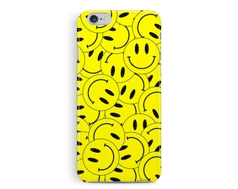 iPhone 7 Case, Smiley Face Phone Case, iPhone 7 Case Hipster, Cool iPhone 7 plus case, 90s Rave, acid symbol, RAVE iPhone Cover, 90s grunge