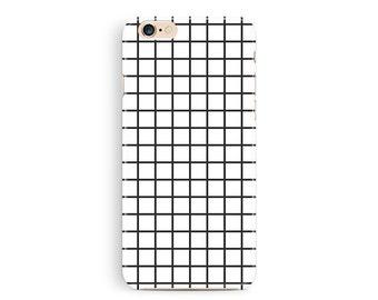iPhone6 case, Grid Phone 6 Case, Phone Cases, 90s Phone Case, iPhone 6 Case, Hipster iPhone 6 Case, Black and White, Trendy iPhone 6 Cases